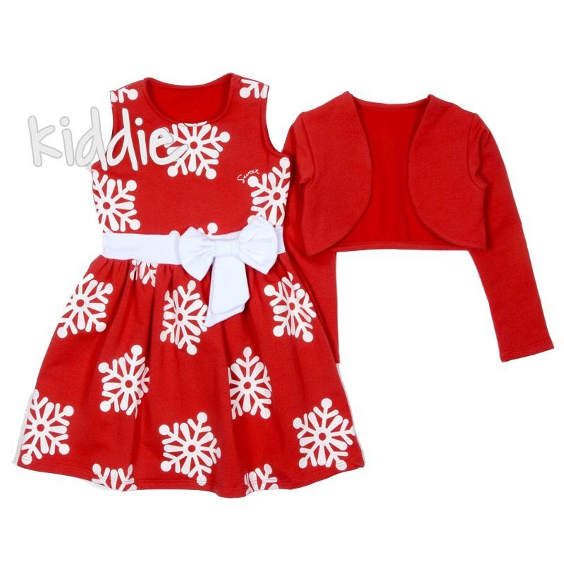 Детска коледна рокля с болеро Sevtex