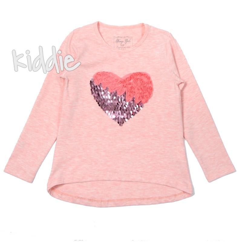 Детска блуза за момиче с пайети Breeze