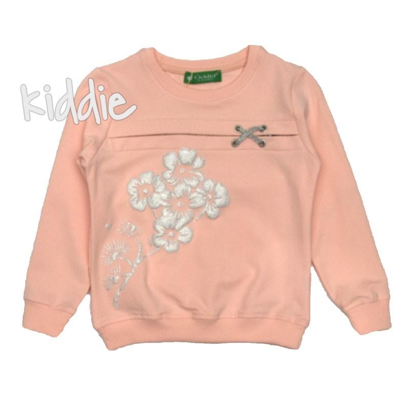 Детска блуза Cichlid с цветя за момиче