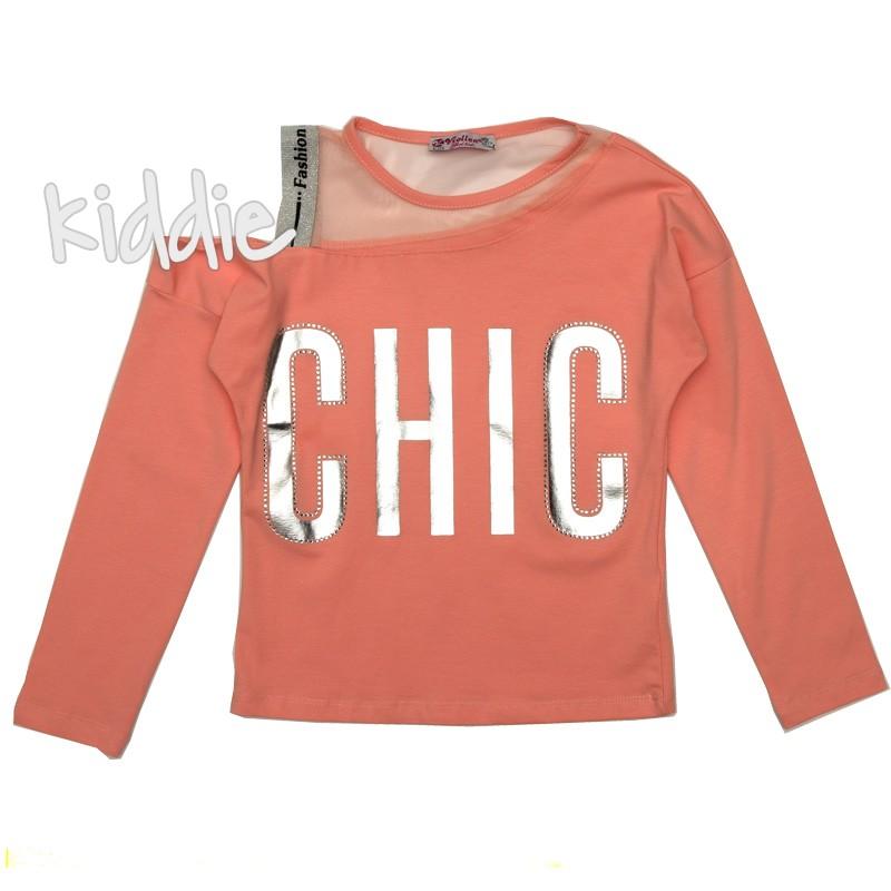 Детска къса блуза за момиче Chic