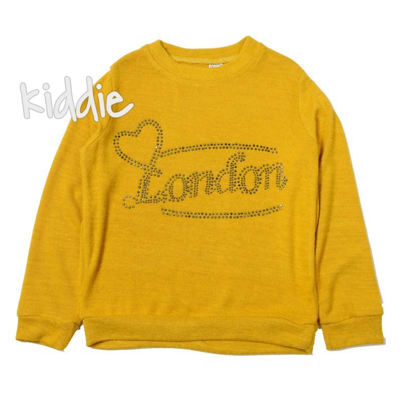 Детска блуза за момиче с градове