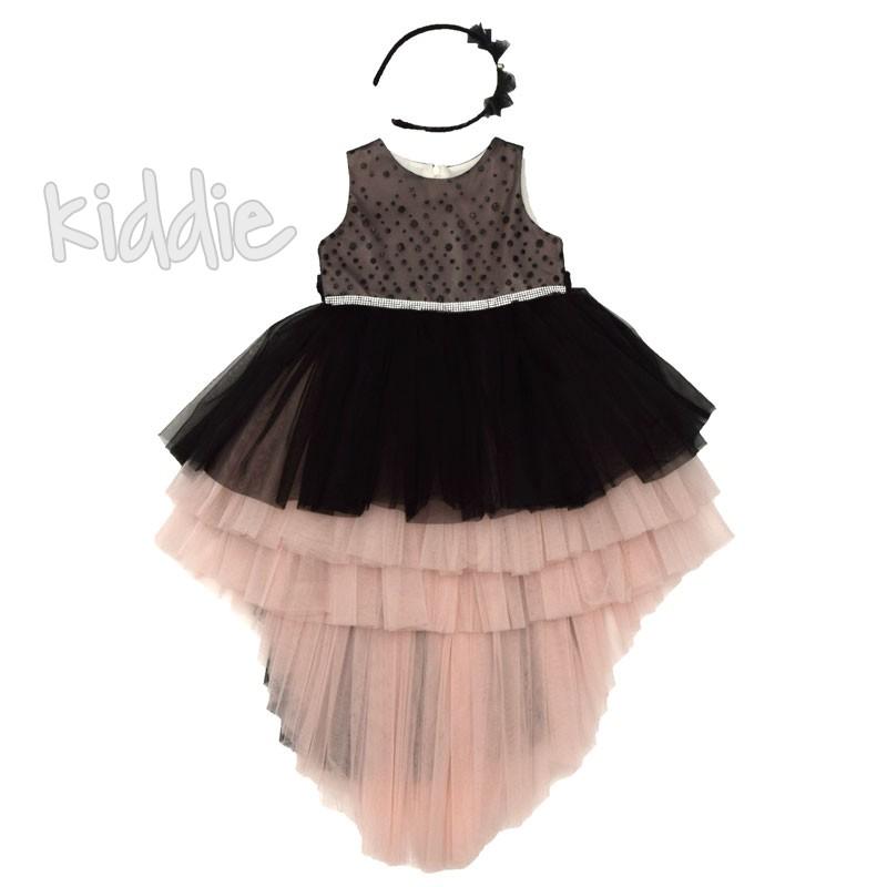 Детска рокля Monita Kids с диадема
