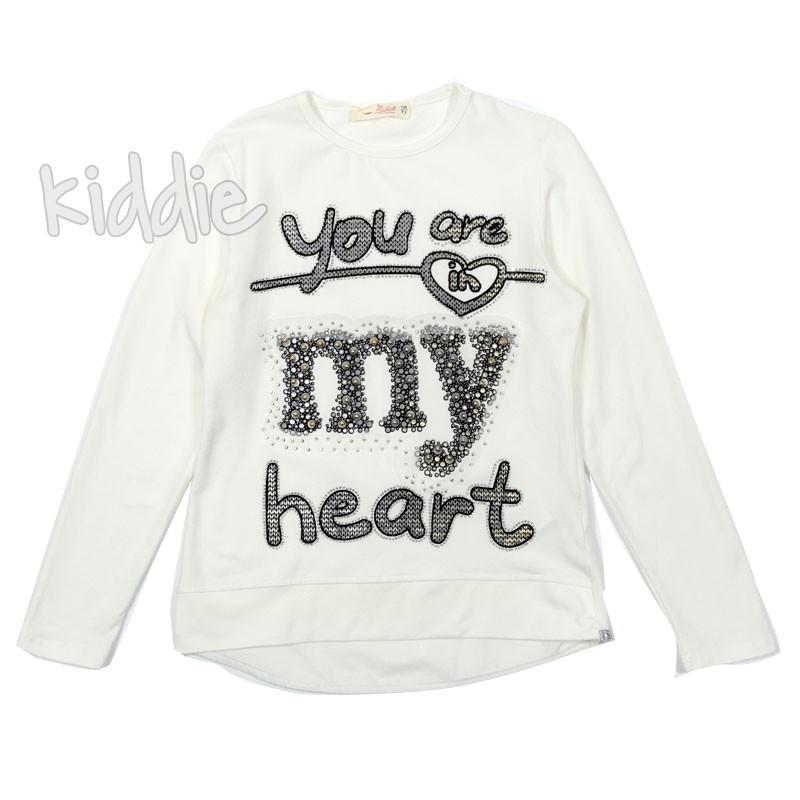 Детска блуза You are my heart за момиче