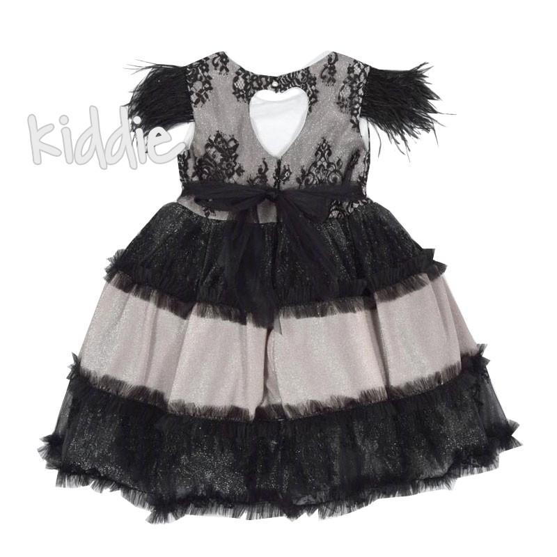 Детска официална рокля с пера Monita