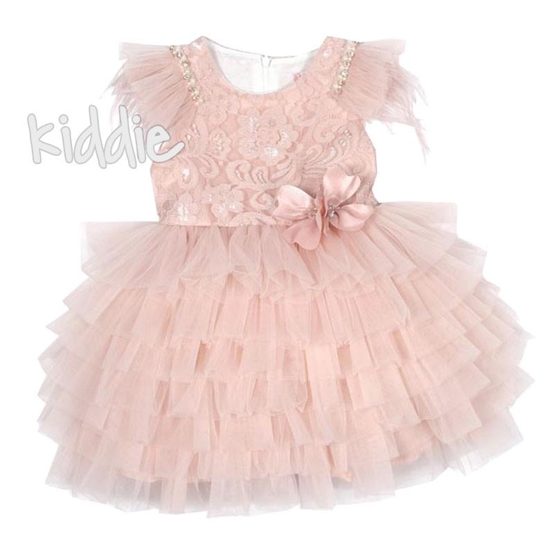 Детска официална рокля на волани Monita