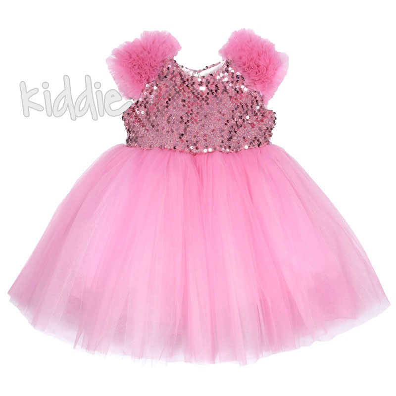 Детска официална рокля Monita с пайети