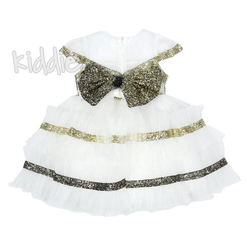Официална детска рокля с голяма панделка Monita
