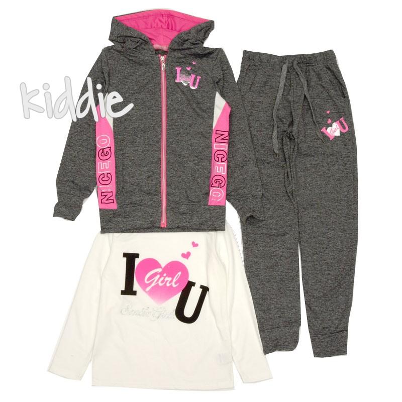 Детски спортен комплект за момиче Pink Baby