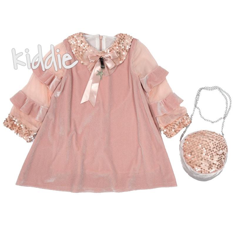 Детска плюшена рокля с чанта