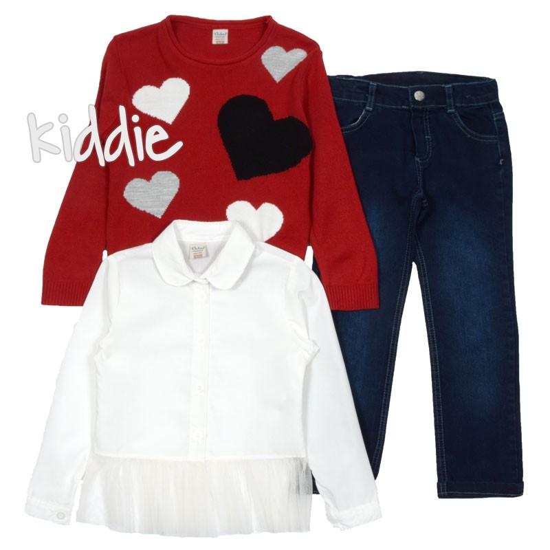 Детски комплект Bebus за момиче с риза