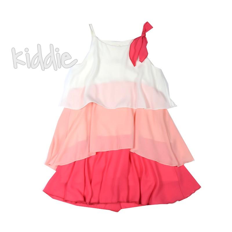Детска рокля на цветни волани Contast