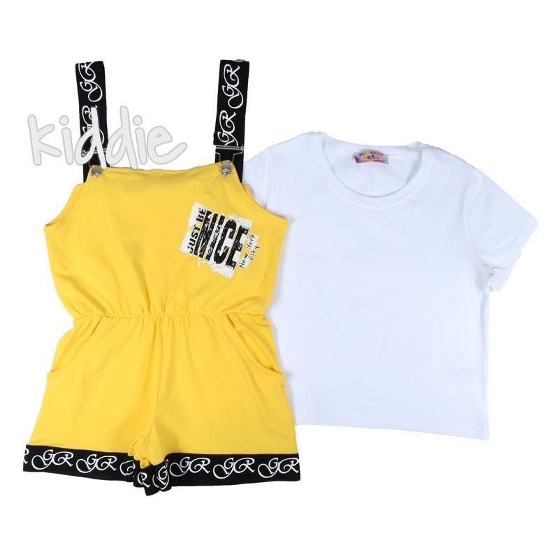 Детски гащеризон Teto за момиче с тениска