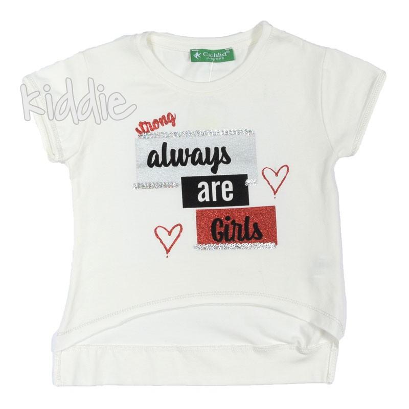 Детска тениска за момиче Always are girls, Cichlid