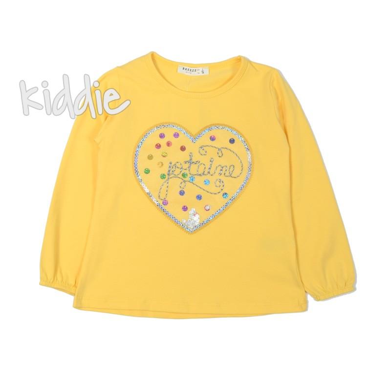 Детска блуза Breeze за момиче с дълъг ръкав