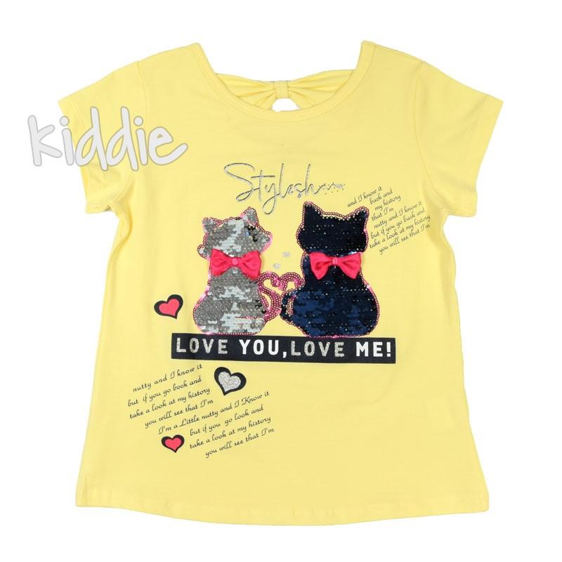 Детска тениска Love You Love me Breeze за момиче