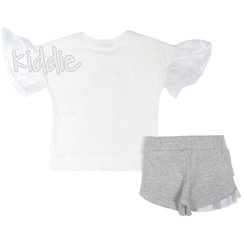 Детски комплект Little Star за момиче с пола панталон