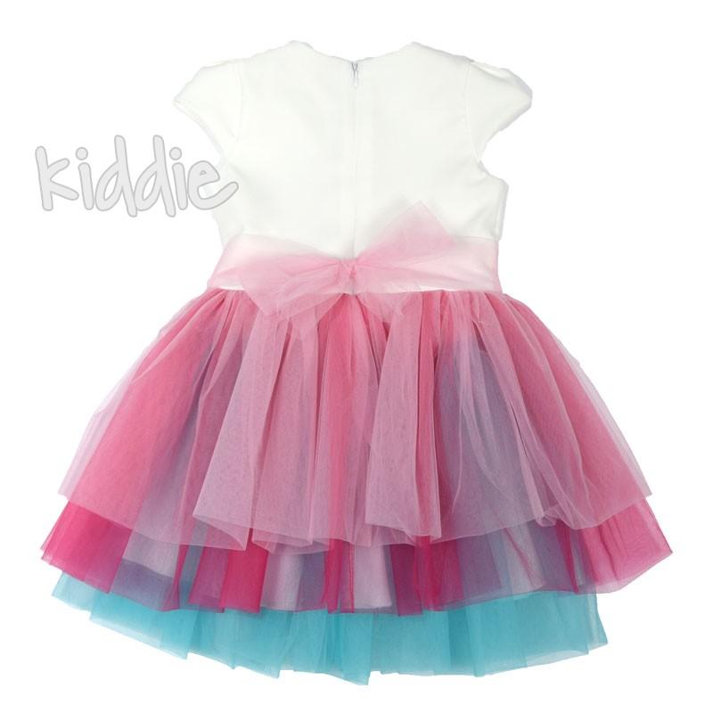 Детска рокля Kim Kids с разноцветни волани