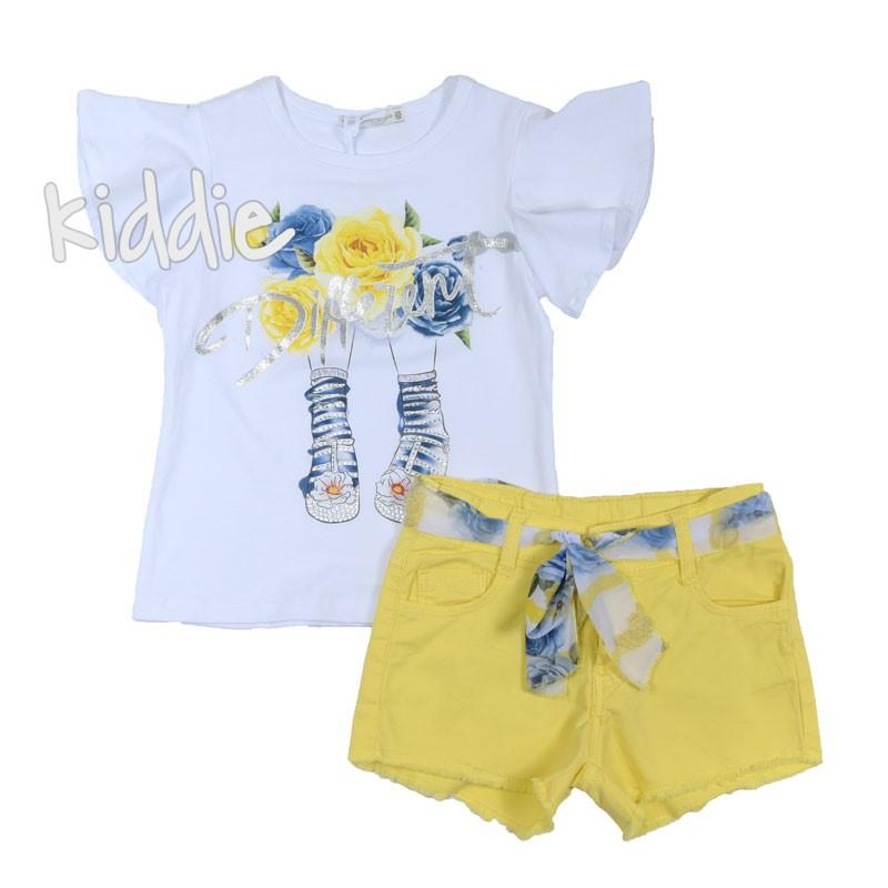 Детски комплект за момиче Different с къси панталони