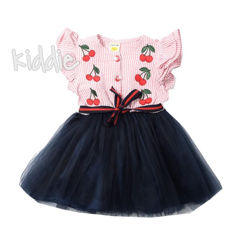 Детска рокля с тюл Черешки Comino