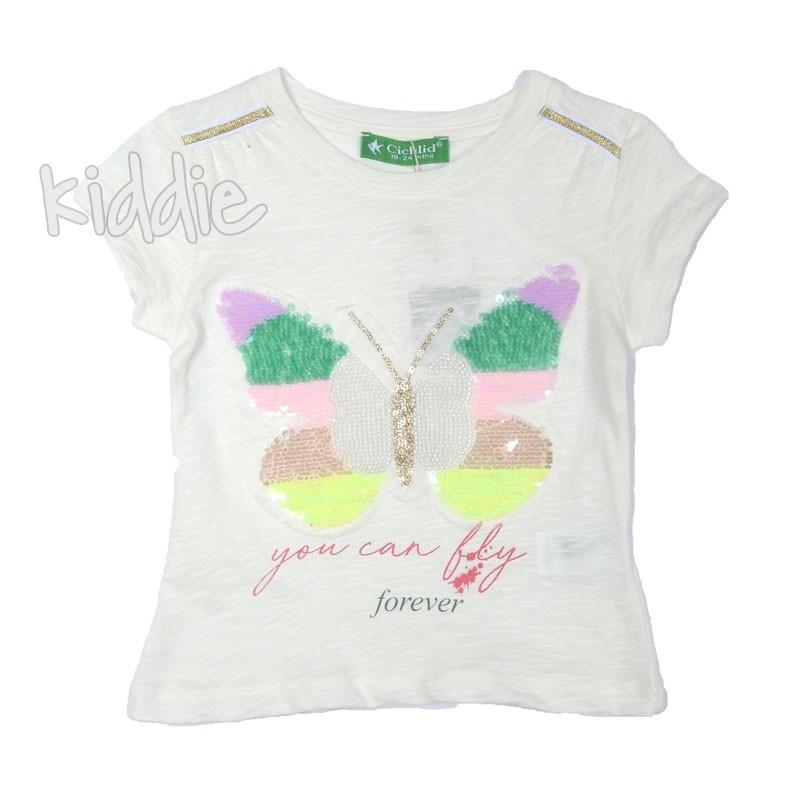Детска тениска за момиче You can fly forever, Cichlid