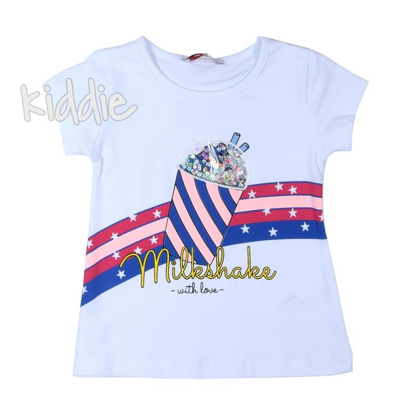 Детска тениска Wanex за момиче чаша с пайети