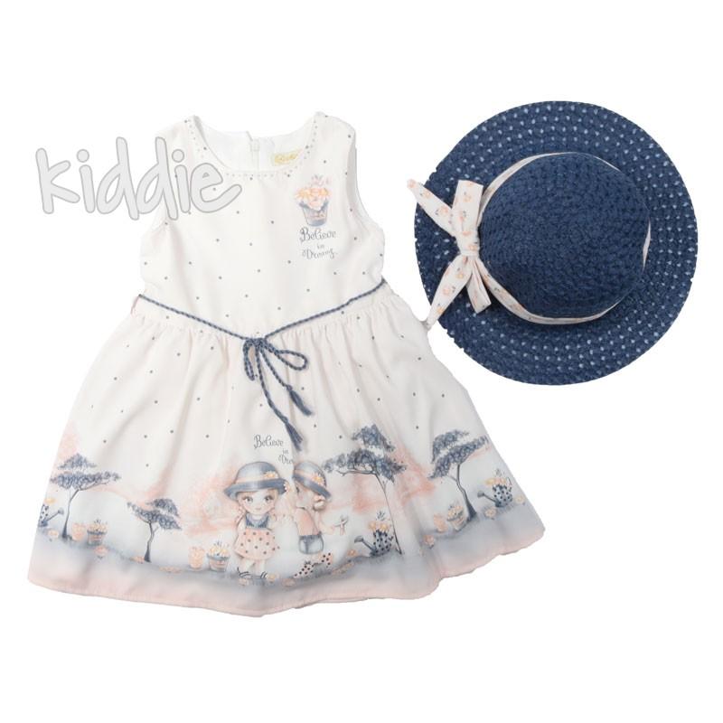 Детска рокля с шапка Moonstar