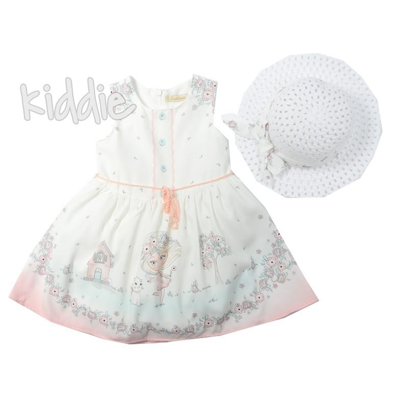 Детска красива рокля с шапка Moonstar