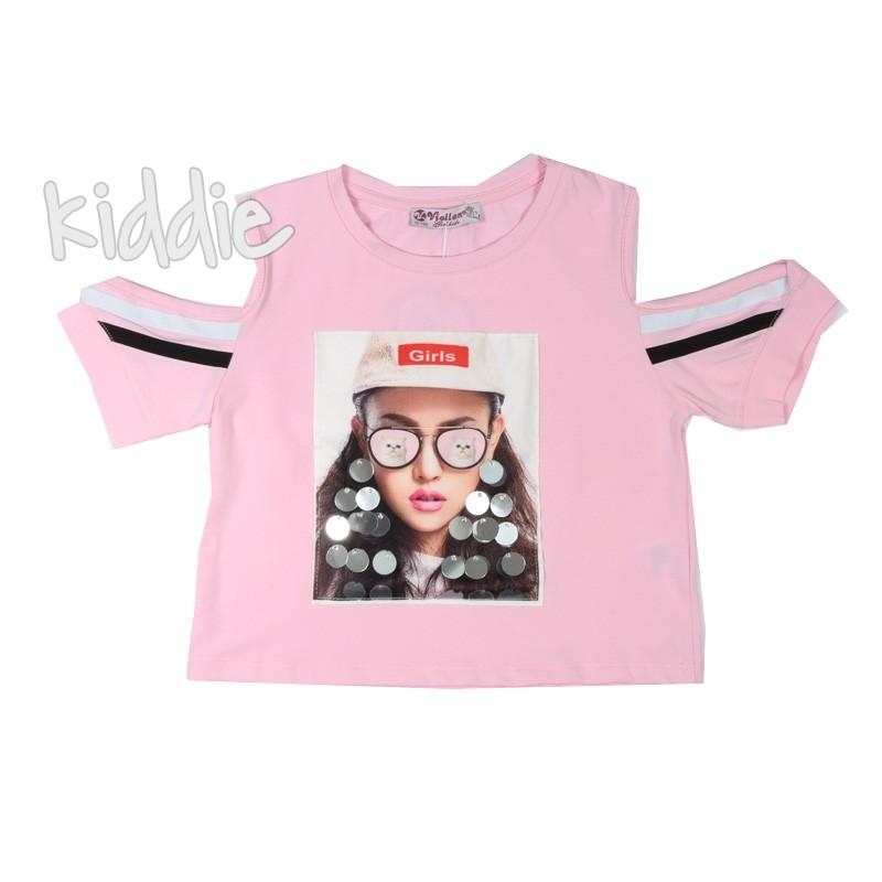Детска къса тениска Girls Viollen