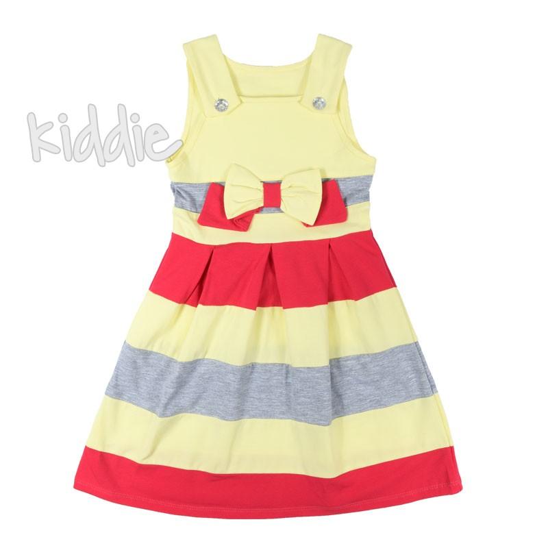 Детска рокля Sevtex в райе