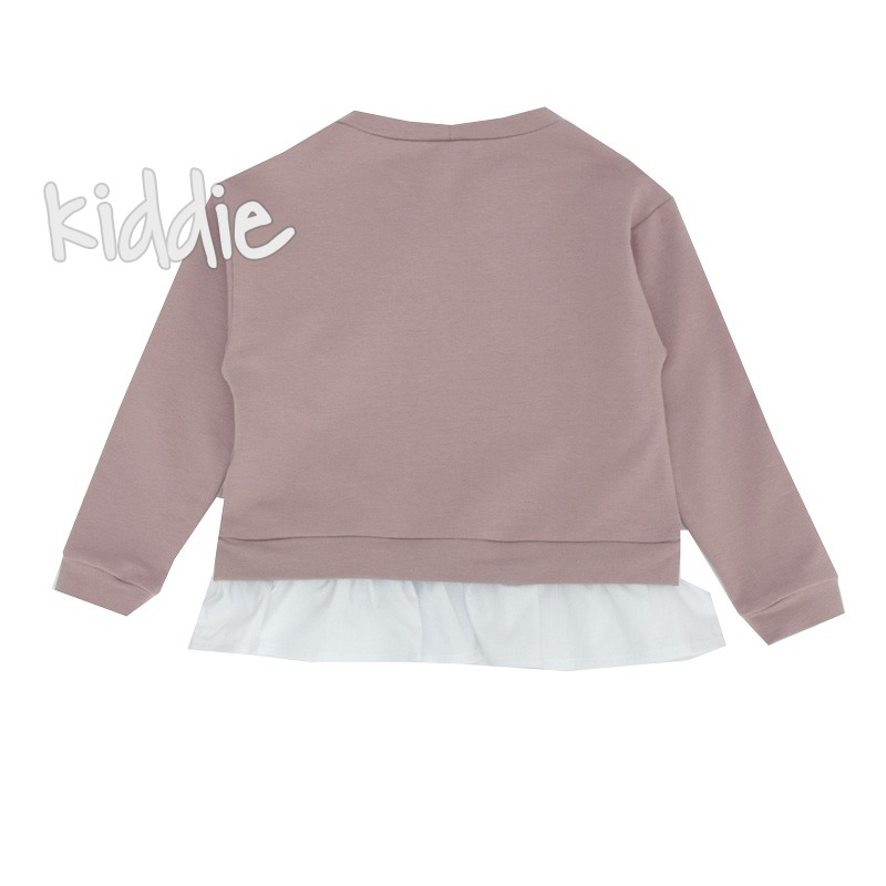 Детска блуза Contrast за момиче с къдрички