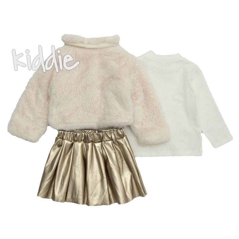 Детски комплект с кожена пола за момиче Repanda