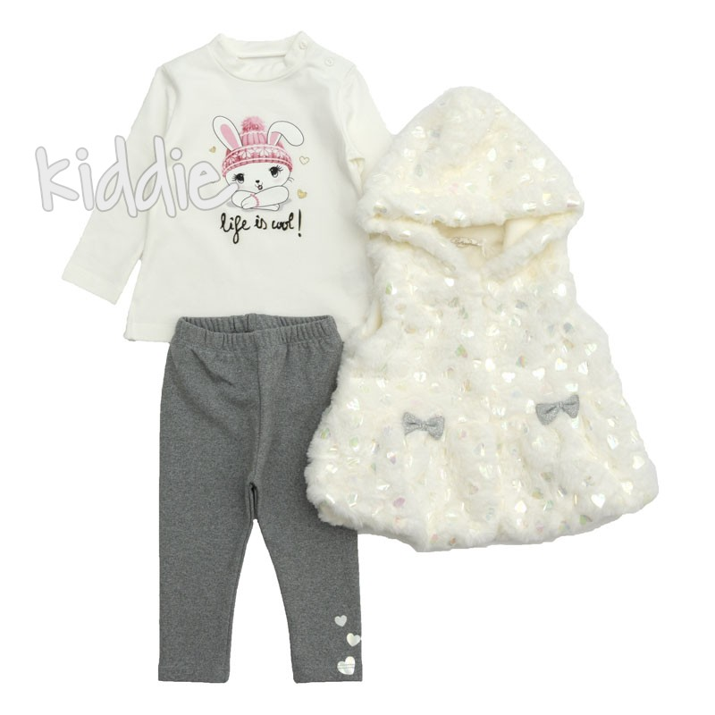 Детски комплект с пухкав елек за момиче Repanda