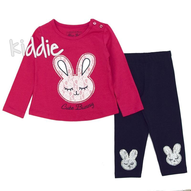 Детски комплект Breeze за момиче със зайче от дантела