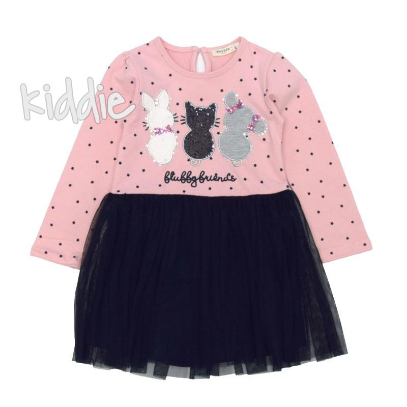 Детска рокля Breeze с животни и звезди