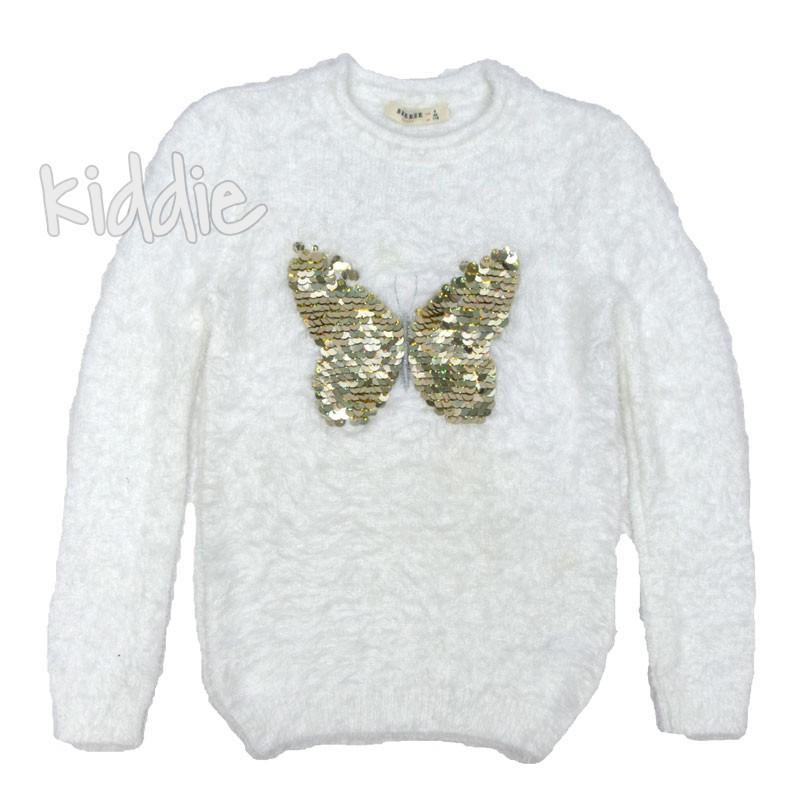 Детски пуловер с Пеперуда Breeze за момиче