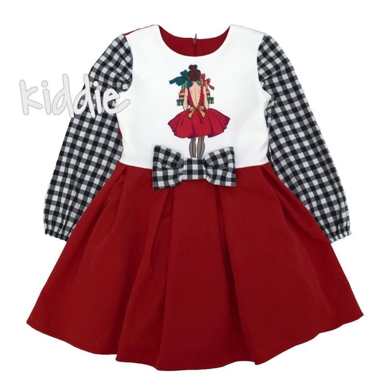 Детска рокля Коледа Kim Kids