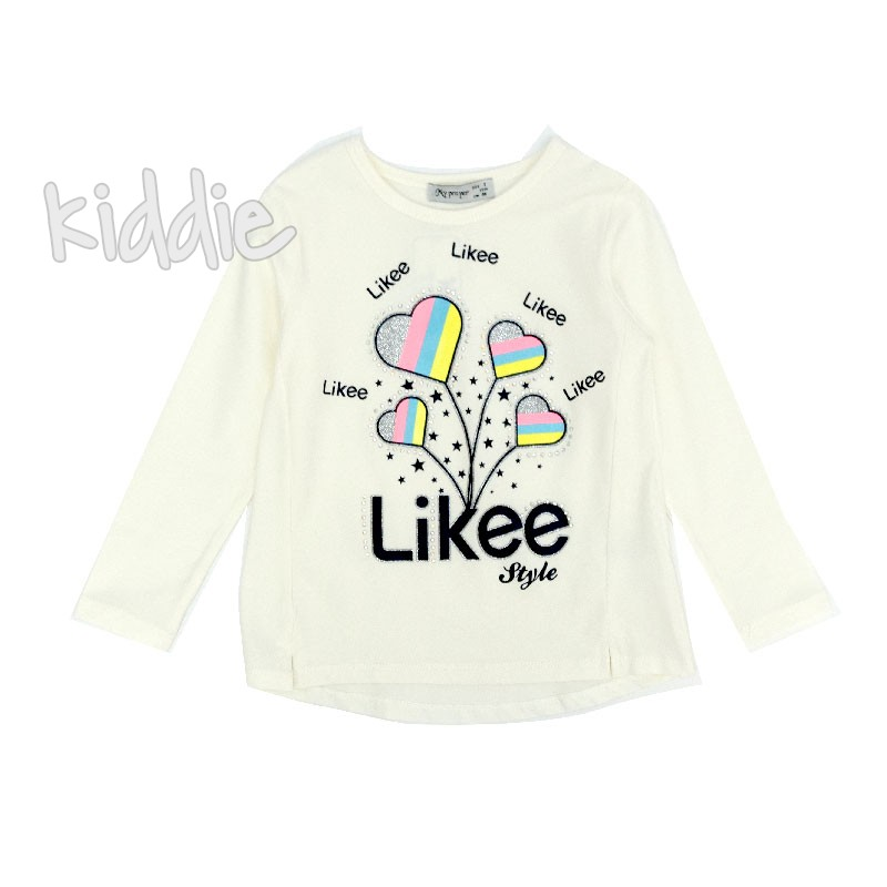 Детска блуза Like My prayer за момиче
