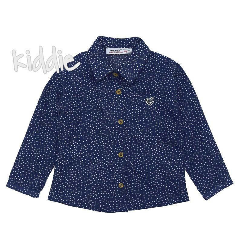 Детска риза Wanex за момиче на точки