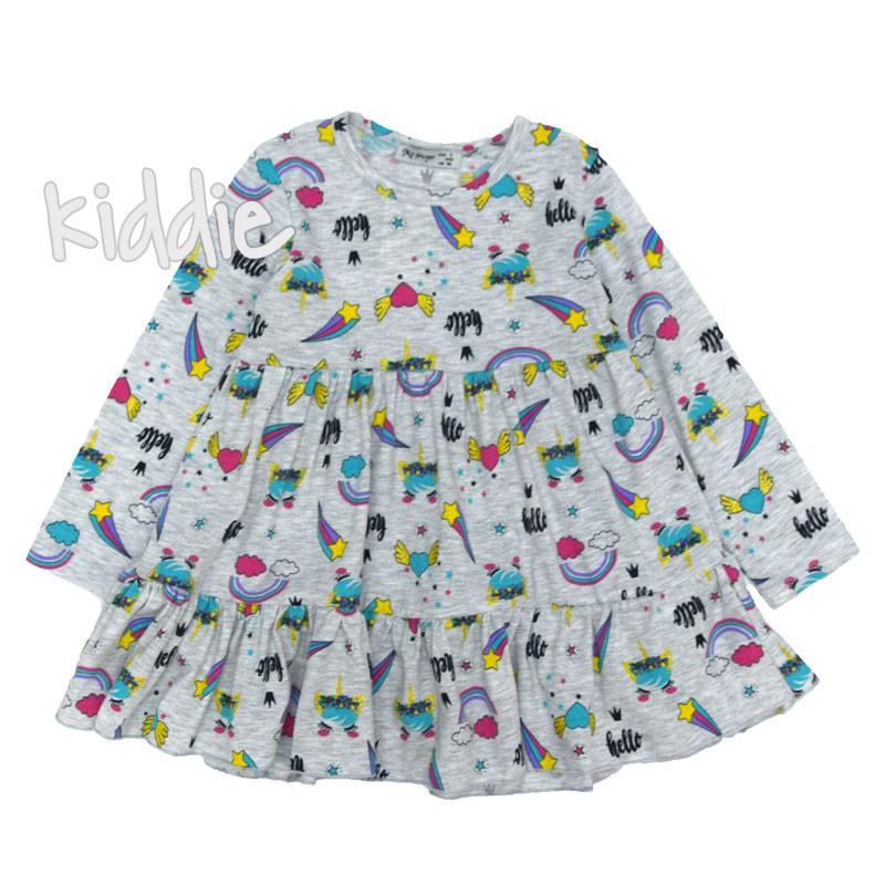 Детска рокля от трико My prayer със сърца