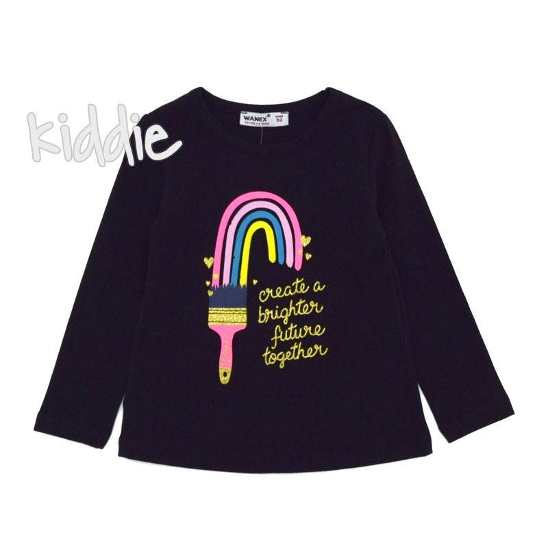 Детска блуза Wanex с цветна четка за момиче