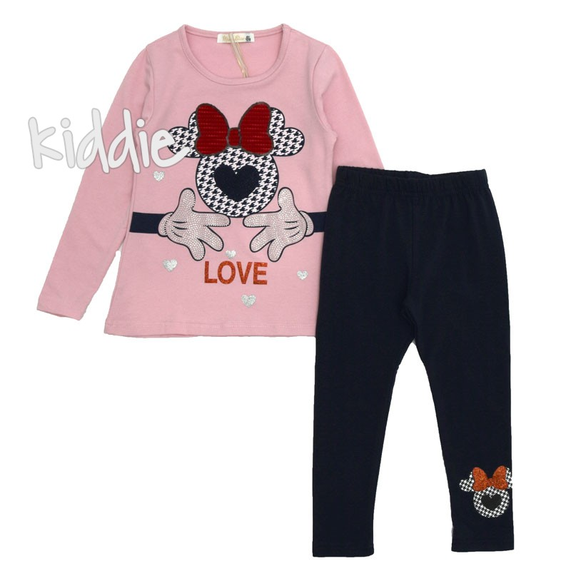 Детски комплект за момиче LOVE, Mono star