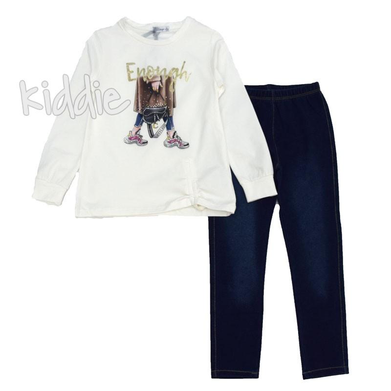 Детски комплект Lollitop с туника и дънков клин за момиче