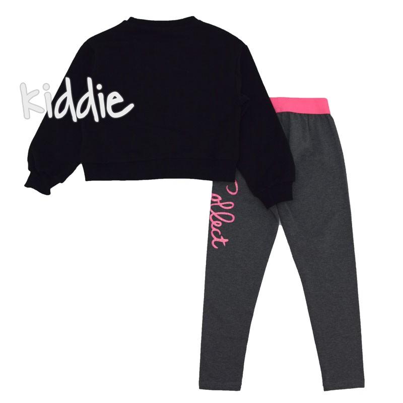 Детски комплект Lollitop с къса черна блуза за момиче