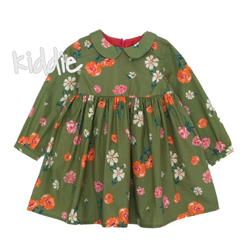 Нежна рокля на цветя с якичка Cikoby