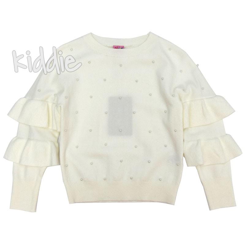 Детски пуловер с перли Ativo за момиче