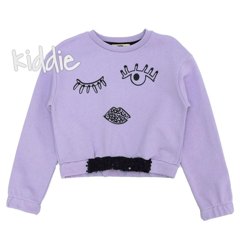 Детска къса блуза за момиче с пайети Cikoby