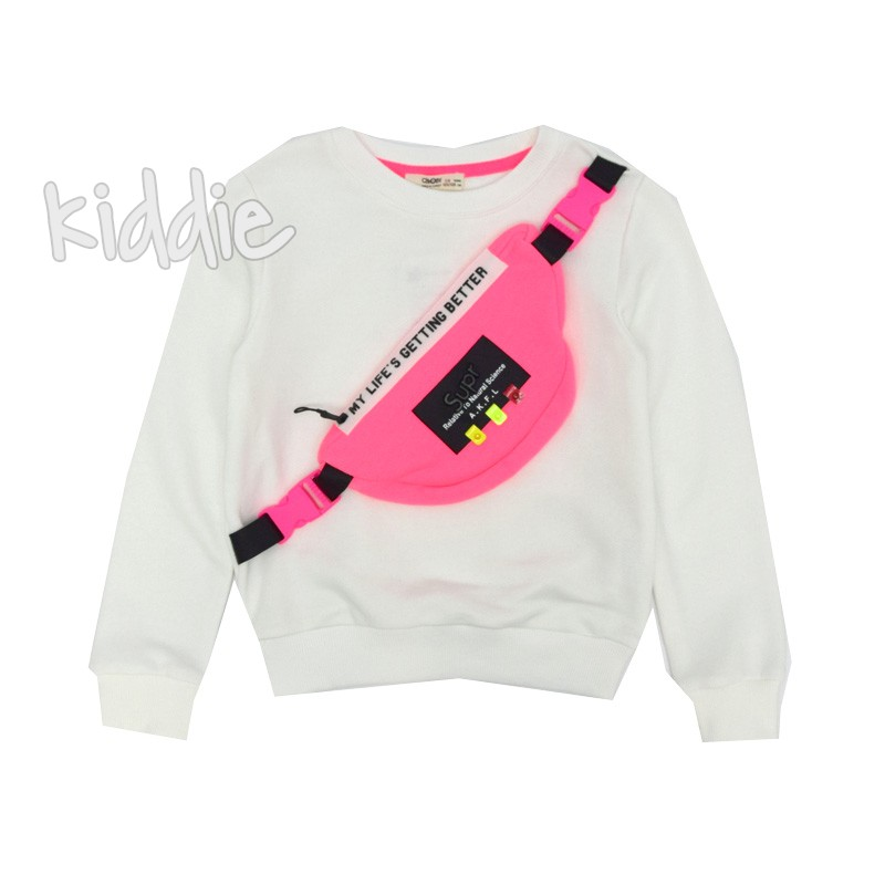 Детски блуза Cikoby с цветна чанта за момиче