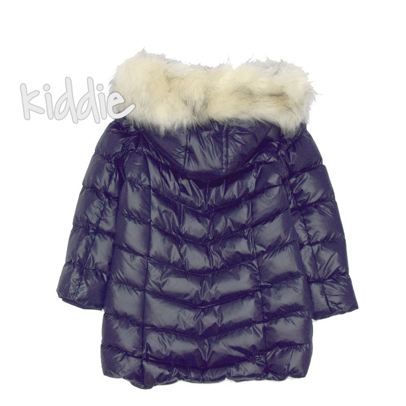 Детско зимно яке Nature за момиче с бродерия на джобовете