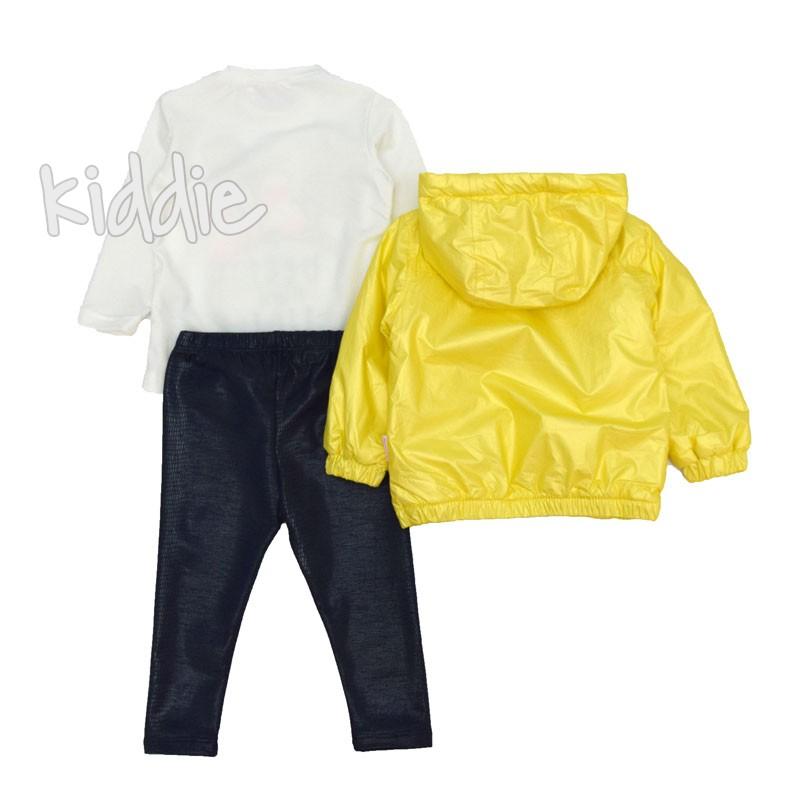 Детски комплект с жълто якe Repanda за момиче