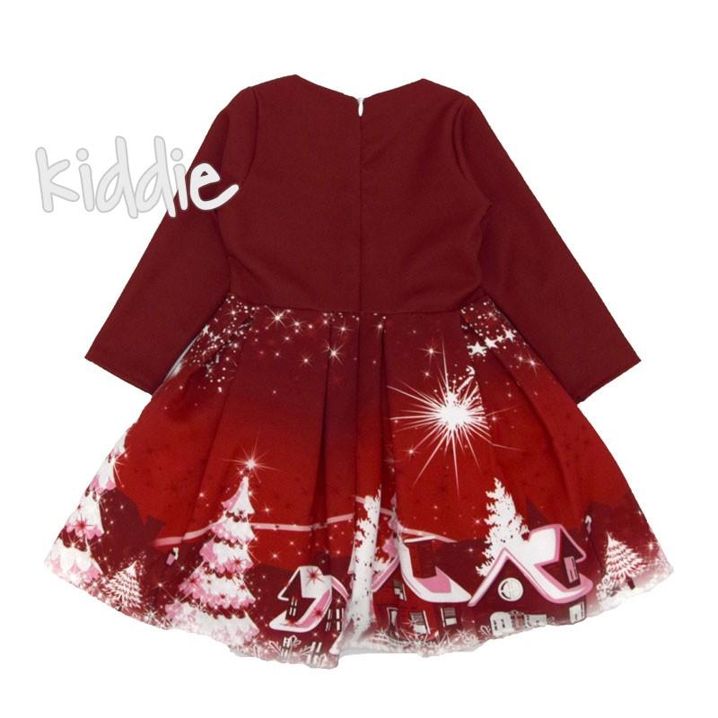 Коледна рокля с дълъг ръкав IVON